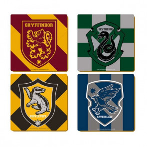 Harry Potter Untersetzer 4er-Pack Varsity Crests