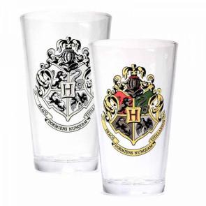 Harry Potter Glas mit Thermoeffekt Hogwarts Crest