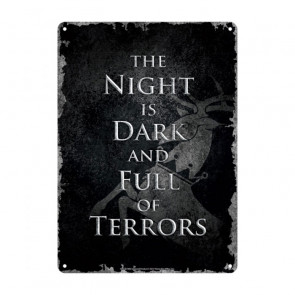Game of Thrones Blechschild Night Dark 21 x 15 cm