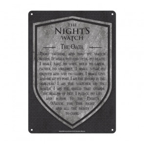 Game of Thrones Blechschild Nights Watch 21 x 15 cm
