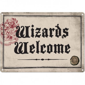 Harry Potter Blechschild Wizards Welcome 21 x 15 cm