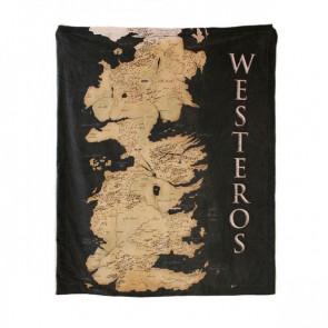 Game of Thrones Westeros Kuscheldecke 125 x 150 cm