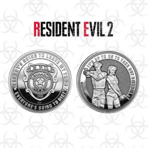 Resident Evil 2 Sammelmünze Raccoon Police Silver Edition