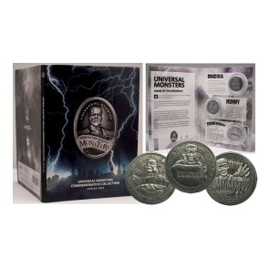 Universal Monsters Commemorative Collection Sammelmünzen 3er-Pack Serie 1