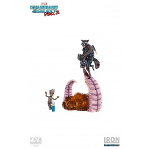 Guardians of the Galaxy Vol. 2 Battle Diorama Series Statue 1/10 Rocket & Groot 17 cm