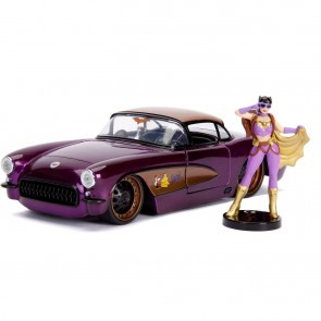 DC Bombshells Diecast Modell Hollywood Rides 1/24 1957 Chevy Corvette with Batgirl Figur