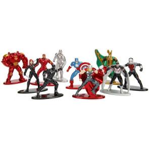 Marvel Comics Nano Metalfigs Diecast Minifiguren 10-er Pack Wave 1 4 cm