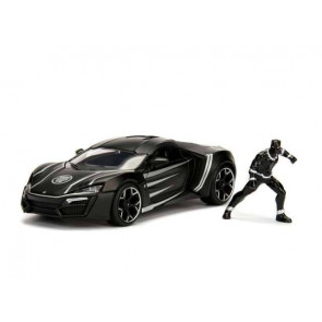 Marvel Diecast Modell 1/24 Black Panther & 2017 Lykan Hypersport