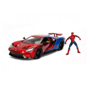 Marvel Diecast Modell 1/24 Spider-Man & 2017 Ford GT