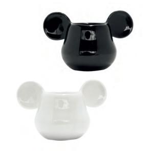 Micky Maus 3D Espresso-Tassen Doppelpack Schwarz & Weiß