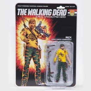 The Walking Dead Actionfigur Shiva Force Commander Rick (Bloody) 13 cm