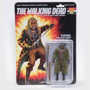 The Walking Dead Actionfigur Shiva Force Sensei Ezekiel (Bloody) 13 cm