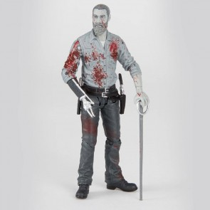 The Walking Dead Actionfigur Rick (Bloody B&W) 15 cm