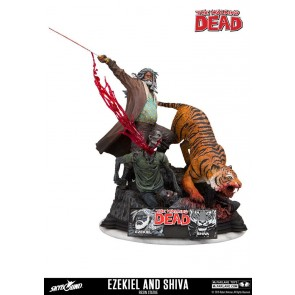 The Walking Dead Ezekiel & Shiva Statue 33 cm