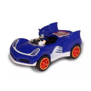 Sonic & All-Stars Racing Transformed Fahrzeug mit Rückziehfunktion Sonic 9 cm