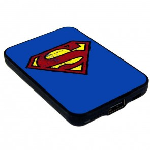 Superman Credit Card Sized Power Bank für Smartphones 5000 mAh Logo