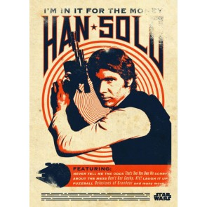 Star Wars Metall-Poster Star Wars Legends Han Solo 10 x 14 cm