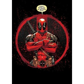 Marvel Comics Metall Poster Deadpool Merc with a Mouth Evening Plans 10 x 14 cm