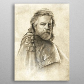 Star Wars Metall-Poster Last Jedi Sketches Luke Skywalker 32 x 45 cm