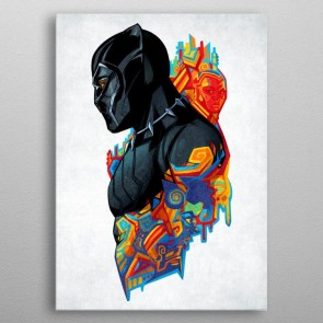 Marvel Metall-Poster Black Panther King's Heritage 10 x 14 cm
