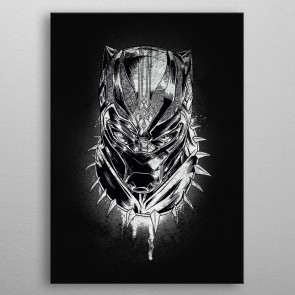 Marvel Metall-Poster Black Panther Panther's Rage 32 x 45 cm