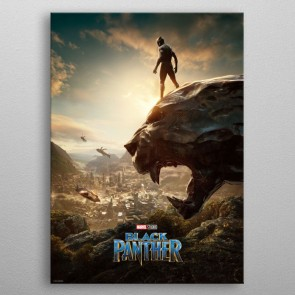 Marvel Metall-Poster Black Panther Long Live The King 10 x 14 cm