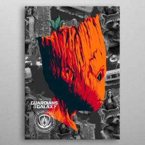 Marvel Metall-Poster GOTG2 Groot 10 x 14 cm