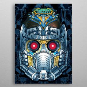 Marvel Metall-Poster GOTG2 Star-Lord Helmet 10 x 14 cm