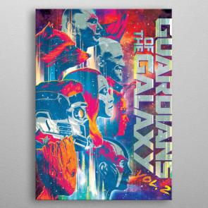 Marvel Metall-Poster GOTG2 Guardians 10 x 14 cm