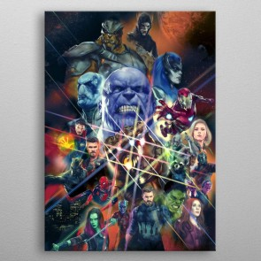 Marvel Metall-Poster Infinity War Characters 32 x 45 cm