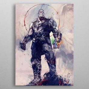 Marvel Metall-Poster Infinity War Infinity Gauntlet 10 x 14 cm