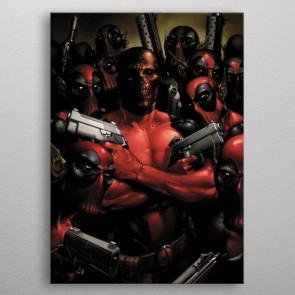 Marvel Metall-Poster Deadpool Gritty Wrong Neighborhood 32 x 45 cm