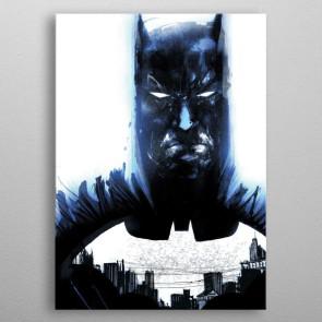 DC Comics Metall-Poster Batman Light Absorption Heart of Gotham 32 x 45 cm