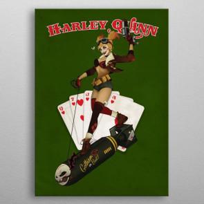 DC Comics Metall-Poster Bombshells Harley Quinn 10 x 14 cm
