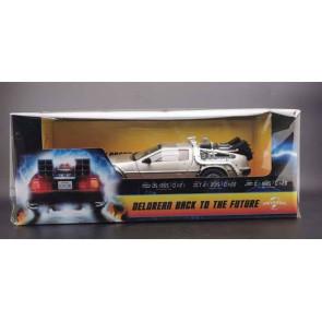 Zurück in die Zukunft 1983 DeLorean mit Marty McFly Figur 1/18 Diecast Modellauto