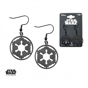Star Wars Edelstahl-Ohrringe Black Galactic Empire Symbol