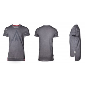 Assassin's Creed Odyssey T-Shirt Logo Oil Dye Pintuck