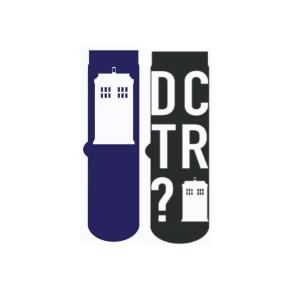 Doctor Who Herren Socken Doppelpack Tardis