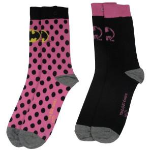 DC Comics Damen Socken Doppelpack Batman Pink