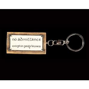 Herr der Ringe No Admittance Schlüsselanhänger 6 cm