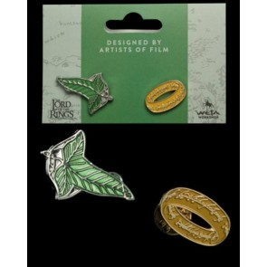 Herr der Ringe Ansteck-Pin Doppelpack Elfen Leaf & One Ring