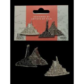 Herr der Ringe Ansteck-Pin Doppelpack Minas Tirith & Mt. Doom
