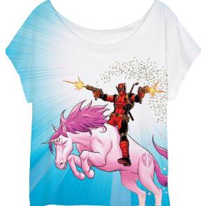 Deadpool Girlie T-Shirt Unicorn