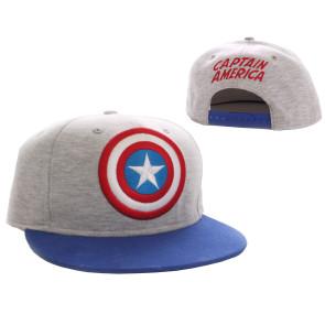 Captain America Baseball Cap Vintage Logo grey