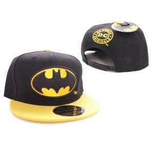 Batman Baseball Cap Black Bat Logo Black