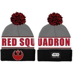 Star Wars Rogue One Pom-Pom Beanie Red Squadron