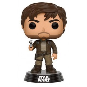 Star Wars Rogue One Cpt Cassian POP! Figur Brown Jacket 9 cm