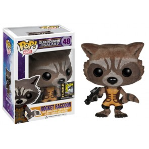 Guardians of the Galaxy POP! Flocked Rocket Raccoon Figur SDCC2014 Exclusive 10 cm