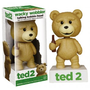 Ted 2 Wackelkopf Figur mit Sound Talking Ted 15 cm