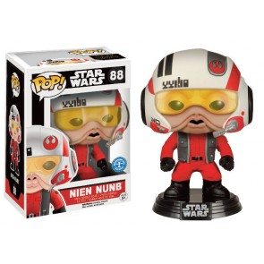 Star Wars VII Nien Nunb with Helmet POP!-Figur 9 cm Exclusive
